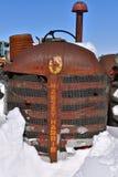 Vieux gril de tracteur de Massey Harris image libre de droits