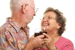 Vieux grillage heureux de couples Image libre de droits