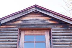Vieux gris de mur en bois de pin Image libre de droits