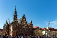 Vieux hôtel de ville de Wroclaw Photos libres de droits