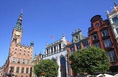 Vieux hôtel de ville dans la ville de Danzig, Pologne Images stock