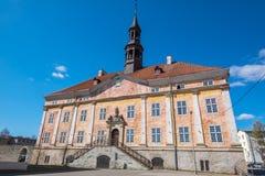 Vieux hôtel de ville Narva, Estonie, UE Images libres de droits