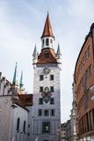 Vieux h?tel de ville situ? sur la place centrale de Munich, Allemagne image stock