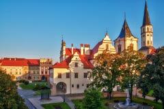 Vieux hôtel de ville unique dans la ville de Levoca Images stock