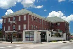 Vieux hôtel, restaurant et café-restaurant Images stock