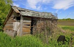 Vieux hangar de émiettage de ferme Photos libres de droits