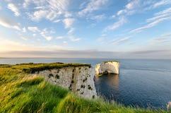 Vieux Harry Rocks près de Swanage dans Dorset Images libres de droits