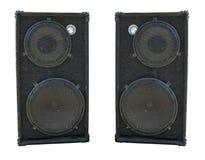 Vieux haut-parleurs puissants d'acoustique de concert d'étape Photographie stock libre de droits