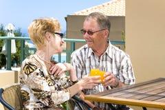 vieux heureux de couples Photographie stock libre de droits