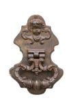 Vieux heurtoir de porte de vintage sur une porte Image stock