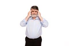 Vieux hommes avec des douleurs Photographie stock