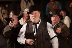 Vieux hommes durs occidentaux Photos libres de droits
