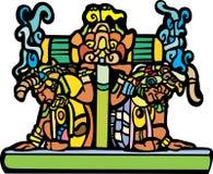 Vieux hommes maya illustration de vecteur
