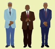 Vieux hommes noirs d'affaires illustration stock