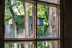 Vieux hublots en bois Photos stock