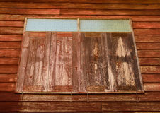 Vieux hublots en bois Photographie stock