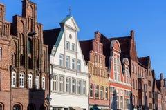 Vieux immeubles de brique médiévaux dans Luneburg l'allemagne photo stock