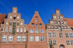 Vieux immeubles de brique médiévaux dans Luneburg l'allemagne photos libres de droits