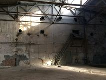 vieux industriel de construction Images libres de droits
