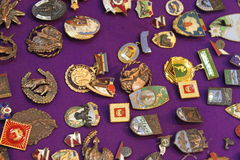 Vieux insignes Photographie stock libre de droits