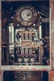 Vieux instruments de mesure de bouton de nombre image libre de droits