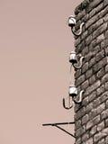 Vieux isolants électriques images libres de droits