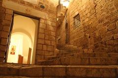 Vieux Jaffa la nuit photographie stock