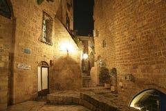 Vieux Jaffa la nuit photographie stock libre de droits