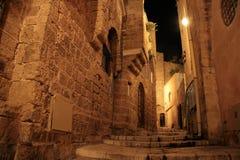 Vieux Jaffa la nuit image stock