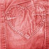 Vieux jeans rouges de velours Image libre de droits