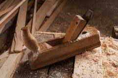 Vieux jointer de charpentier Photographie stock libre de droits