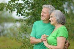 Vieux jouer heureux de couples Images libres de droits