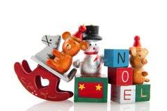 Vieux jouets de Noël Photographie stock libre de droits