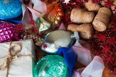 Vieux jouets de Noël de mon arrière grand-mère Photographie stock
