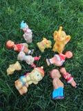 Vieux jouets en caoutchouc de Roumanie Image libre de droits