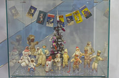 Vieux jouets soviétiques de Noël Photographie stock