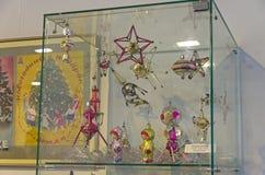 Vieux jouets soviétiques de Noël Image libre de droits