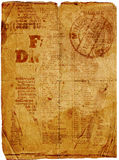 Vieux journal Photos libres de droits