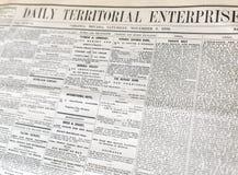Vieux journal, Virginia City, Nevada Photos stock