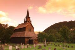 Vieux Kaupanger Stave Church, Norvège Photographie stock
