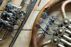 vieux klaxon et cornet Photographie stock libre de droits