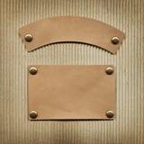Vieux label en cuir photographie stock libre de droits