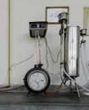 Vieux laboratoire, laboratoire de thermotechnics Images stock