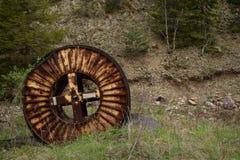 Vieux lac de mine dans le jour d'hiver Photographie stock libre de droits