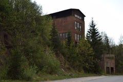 Vieux lac de mine dans le jour d'hiver Photographie stock