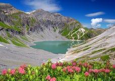 vieux lac du emosson Стоковое Изображение RF