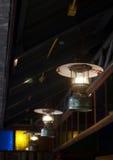 Vieux lampe de conception décorée de vintage rétro par style Photographie stock