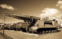 Vieux launcer russe de missile Scud Photos stock