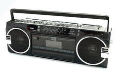 Vieux lecteur de cassettes modifié de type des années 80 Photos stock