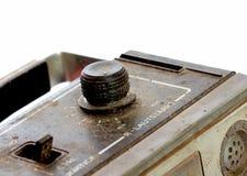 Vieux lecteur de cassettes poussiéreux macro photos Photographie stock